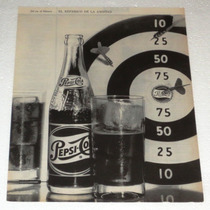 Antiguo Y Raro Anuncio Publicidad De Refrescos Pepsi-cola