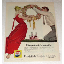 Antiguo Y Raro Anuncio Publicidad De Refrescos Pepsi Cola