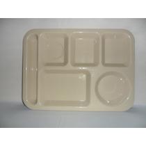 Charola,plato De 6 Division Plastico T/ Melamina De 34.5 Cm