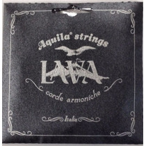 Aquila Lava Nylgut Negro Cuerdas Ukulele Concert Europeas