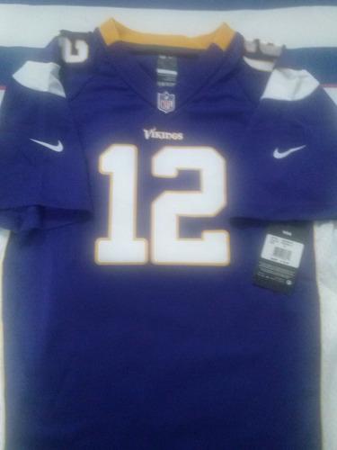 628286f324a7e Jersey Nfl Percy Harvin 12 Minesota Vikingos Minnesota Nike