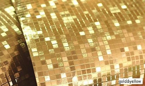 Papel tapiz decorativo dorado glitter otros a mxn 750 en for Papel decorativo dorado