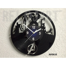 Original Reloj De Pared En Disco De Vinil - The Avengers