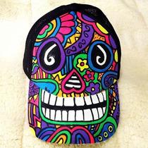 Gorra Calavera Halloween Dia De Muertos Personalizada Neon