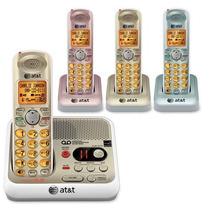 Telefonos Inalambricos At&t El52410 En Colores Kit 4 Handset