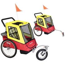 Carreola Remolque Para Bici Trailer Niños Paseo Hm4
