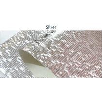 Papel Tapiz Decorativo Plateado Glitter