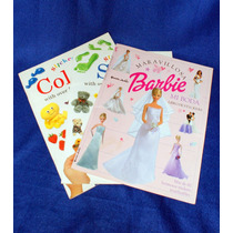 3 Libros De Calcomanias (stcikers) Barbie , Sizes Y Colors