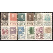 1947 Serie Completa 12 Sellos Mnh Niños Héroes Chapultepec