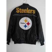 Chamarra De Los Steelers De Pittsbugh Tipo Piel Nfl Original