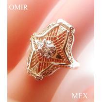 Anillo Oro 14k Con Diamante Antiguo Vintage Fino