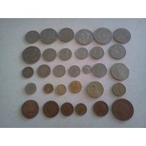 Monedas Antiguas Coleccion De 31 Piezas Cobre Nikel Bronce