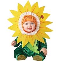 Disfraz Bebe Flor De Girasol, T 18 A 24 Meses. Envio Gratis
