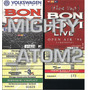 Bon Jovi Boletos De Coleccion Guns Priest Ac Dc Maiden Hm4