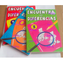 3 Libros P Niños Encuentra Las Diferencias Juego Destreza