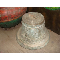 Antigua Campana De Bronce Para Decorar, Fracturada, 33 Cm