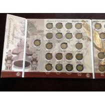 Álbum Completo De Monedas De $5 De La Independencia Y Rev.