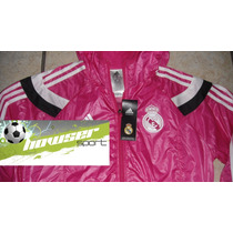 Chamarra Rompevientos Adidas Real Madrid 100%original Anthem