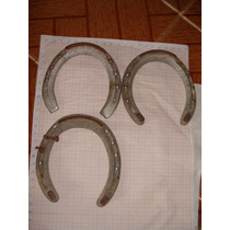 Antiguas 3 Herraduras De Aluminio Y Fierro Decoracion