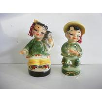 Vintage Ceramica-josef Originals-pareja De Chinito Pintado