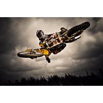 Lienzo Tela Motocicleta Motocross Extreme 60x90 Cm, Poster