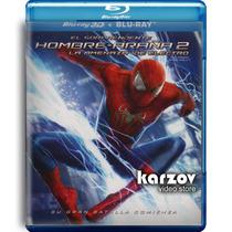 El Sorprendente Hombre Araña 2 Dos Pelicula Br 3d + Blu-ray