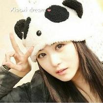 Gorro Con Orejas Oso Panda Cosplay Moda Asiatica Cute Kawai