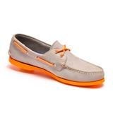 Zapato De Piel Top Sailer Modelo 1501 Gris