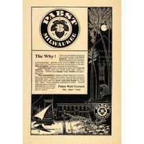 Cuadro Publicidad Cerveza Pabst Milwauk 1895 80 X 50 Cm Tela