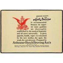 Cuadro En Tela Publicidad Cerveza Busch 1901 60 X 80 Cm