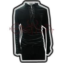 Camisa Eretica Terciopelo. Dark, Gotico, Metalero Hombre 2