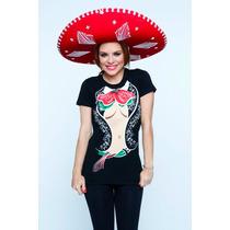 Playera Mujer Fiestas Patrias Mariachi