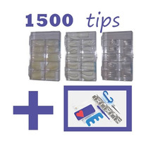 1500 Tips,french,natural Crystal Gelish Acrilico +regalo
