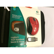 Funda Logitech Mini Laptop Con Mouse Wireless