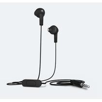 Audifonos Motorola Earbuds Negro Micro Y Control De Musica