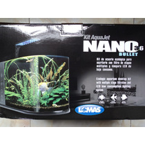 Nano Acuario 14 Litros Bala Mod. 3.6 Filtro Tapa Lámpara Led