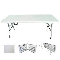 Mesa Para Jardín Tipo Portafolio Plegable Estructura Acero