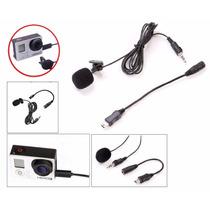 Micrófono 3.5mm + Usb Adaptador P/ Gopro Solapa Hero 3 3+ 4