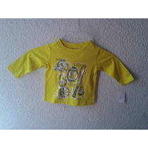 Playera Manga Larga Bebe Kids Headquarters Talla 12 Meses