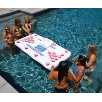 Gopong Pool Party Mesa Inflable Beer Pong Hielera 1.8 Metros