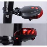 Luz Trasera 5 Leds Proyector De Carril Láser Para Bicicleta