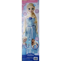 Frozen Princesa Elsa Gigante 91 Cms Zapatillas D Verdad