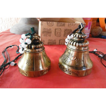 Set De 2 Campanas Metalicas Grabadas Orientales China Dragon