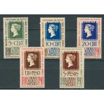 Sc C103-c107 Año 1940 Centenario Del Primer Timbre Postal En