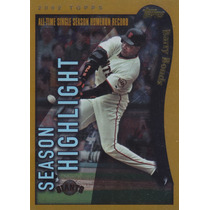 2002 Topps Foil Season Highlight Barry Bonds Giants