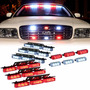 Luces Policiacas Dt Moto Red White 54x Led Emergency