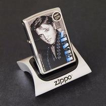 Encendedor Zippo Elvis Presley Blu De Coleccion Mecha Gratis