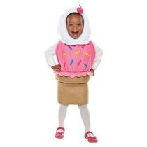 Disfraz Cono De Nieve Traje Niña Talla 3 A 4 Años Halloween