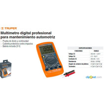 Multimetro Digital Mantenimiento Automotriz Truper