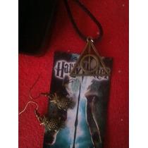 Dije Y Aretes Reliquias Y Lechuzas Harry Potter Igo Icolecci